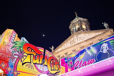 King's Day carnival at Dam Square and the Royal Palace