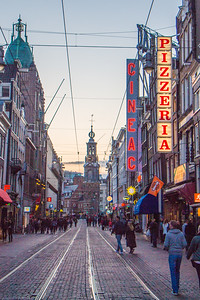 Reguliersbreestraat and the Munttoren