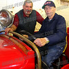 "Bill ""Tex"" Armstrong poses with retired BC Walter Martin, the current owner of the fire truck"