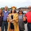 Millie, Alfredo,Emily, Margie and Wilfredo Medina after graduation