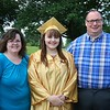 Ann Marie, Allison and Ronald Hess before graduation