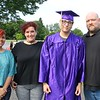 Alyssa Lovelace, Christina Lovelace, Isaac Moya and Adrian Lovelace before graduation