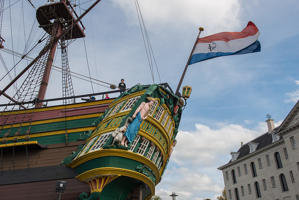 Dutch East India Company ship at the National Maritime Museum