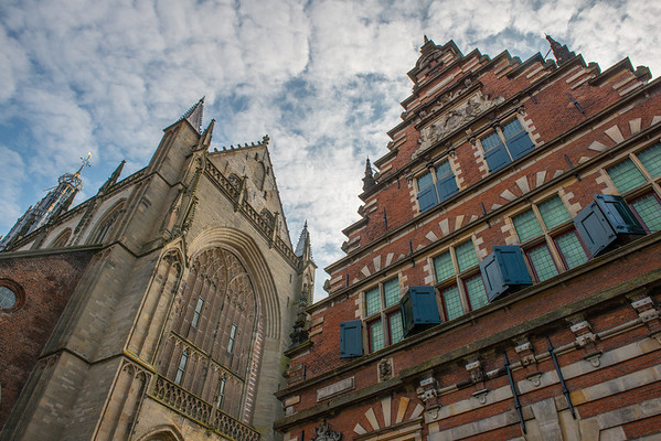 Grote Markt in Haarlem, Netherlands