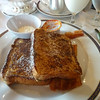 Cinnamon sugar French toast with bacon