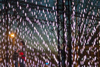 Installation: Alley of Light in Jonas Daniël Meijerplein in Amsterdam Serge Schoemaker Architects & DigiLuce (The Netherlands)