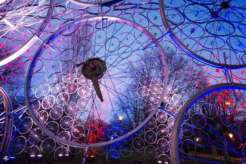 Installation: Re(bi)cycle Dome in Doctor D.M. Sluyspad – Hortusplantsoen<br /> Vasili Popov (Russia)
