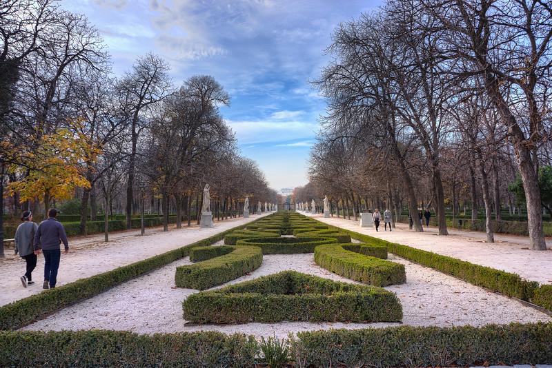 Paseo de la Argentina<br /> Retiro park<br /> Madrid