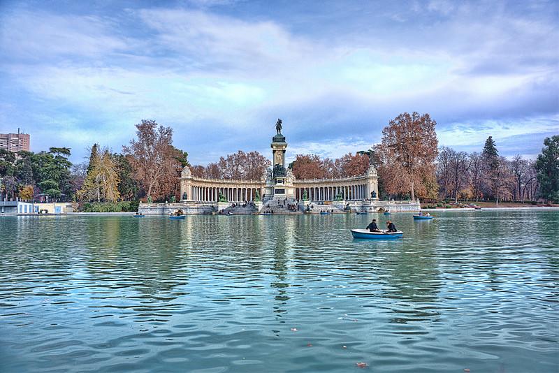 Buen Retiro Park<br /> Alphonso XII Monument<br /> Madrid