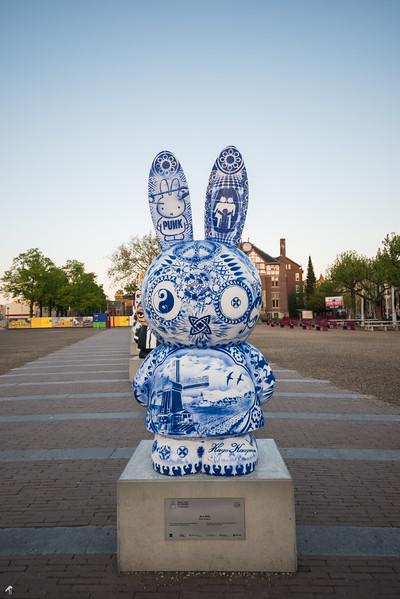 Blue Miffy by Hugo Kaagman (Miffy Art Parade)