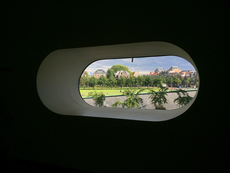 The view out of the Stedelijkmuseum. 2016.