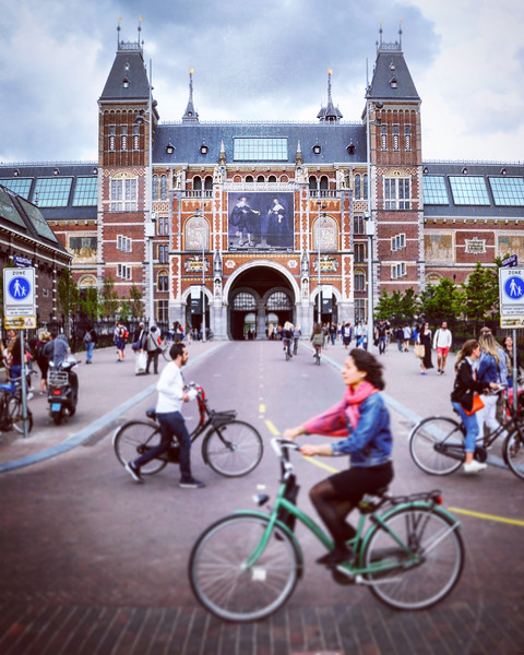 Bicycles outside the Rijksmuseum. 2016.