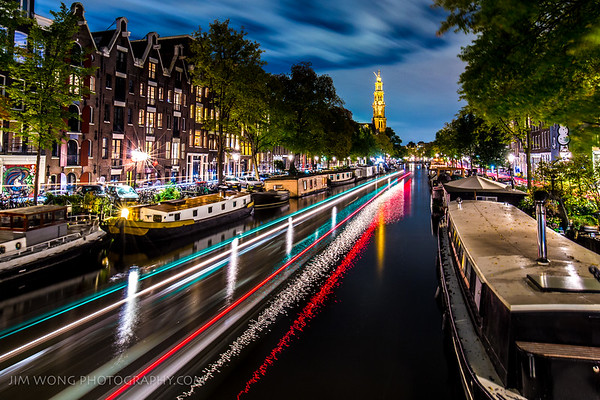 The Prinsengracht canal, looking towards Westerkerk
