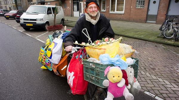 Nederland, Amsterdam, 9 januari 2012, Javastraat, dezelfde dakloze man uit Hogezand twee jaar later. foto: Katrien Mulder