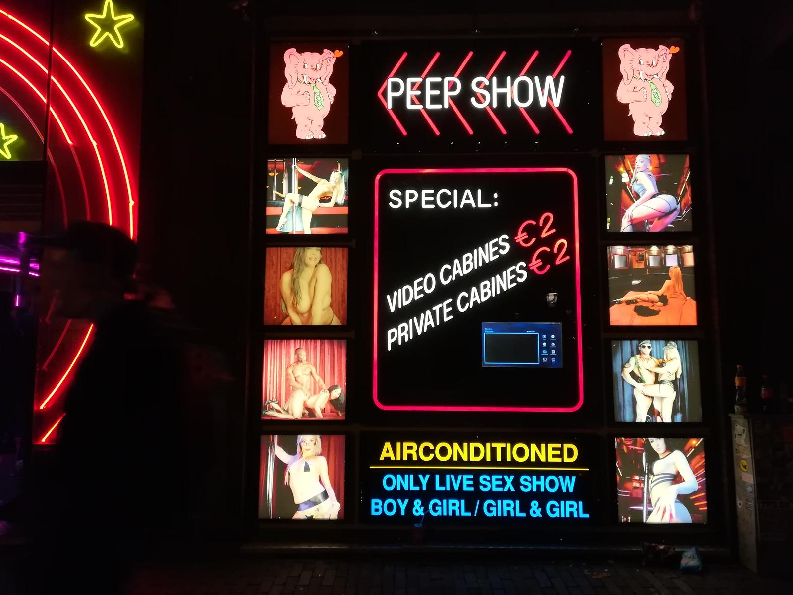 amsterdam red light district peep show