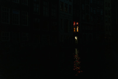 House Light Reflecting on the Canals in Amsterdam