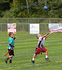 Jaguars Julien Gorisand Texans Ryan Savoie does his best to catch a pass