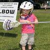 Harry Bullard tries his hand at Lacrosse