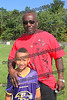 Zephyr Marvin Curry and his son Mekhi of the Ravens