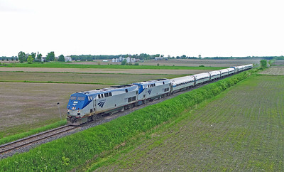 Amtrak 694 (68), Lacolle, Quebec, June 1 2019.