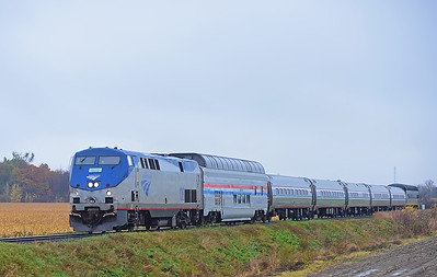 Amtrak 694(68), St-Valentin, Quebec, October 29 2017.