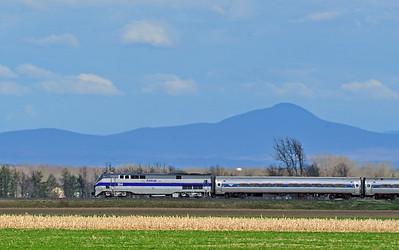Amtrak (695) Adirondack, St-Blaise, Quebec