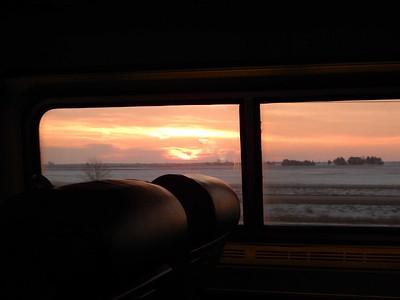 Amtrak trip to Winona, MN.  Feb 2016
