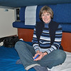 Katie's first trip overnight on Amtrak.  Our bedroom on the sleeper coach.