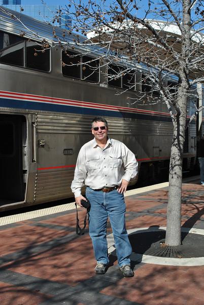 Short stop at the Dallas, Texas, train station