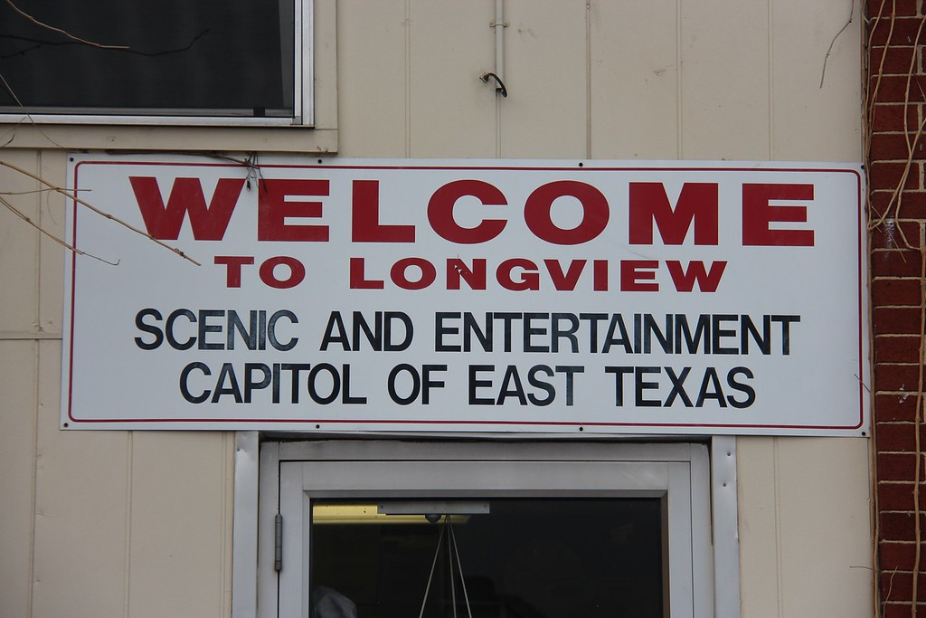 Longview is the Scenic and Entertainment Capitol of East Texas!  (The sign says so.)