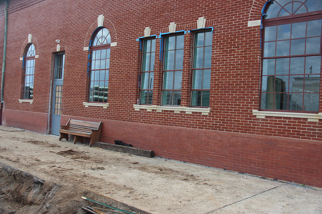 This portion of the UPRR Depot will house the new Amtrak Waiting Room.