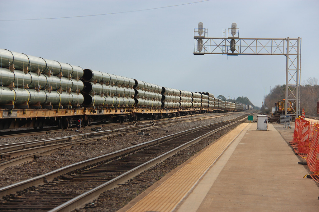 The Union Pacific Railroad owns the tracks that Amtrak operates on through Longview.