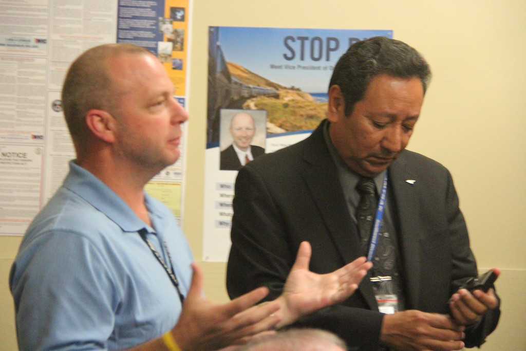 Chad M. Scanlon, Road Foreman of Engines (FTW) and Jesse Padilla (District Manager of Stations)