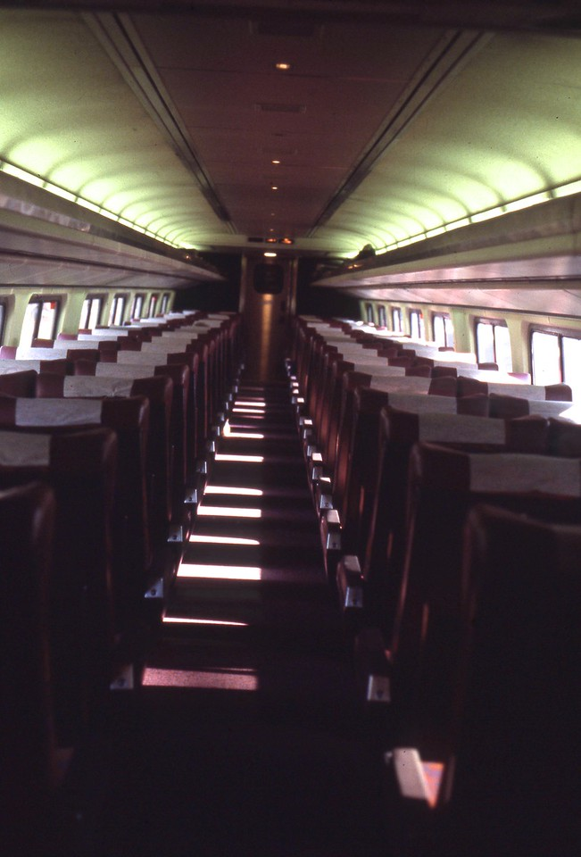 Interior of an Amfleet Coach.