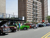 Mermaid parade 2011 - staging area for antique cars