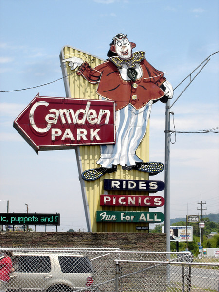 The amazing Camden park entrance sign...I'm sure it's more amazing at night too!