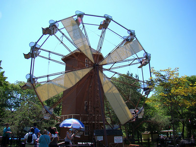A classic Big Eli wheel done up to be a windmill