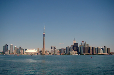 A view of Toronto's skyline from the Ferry