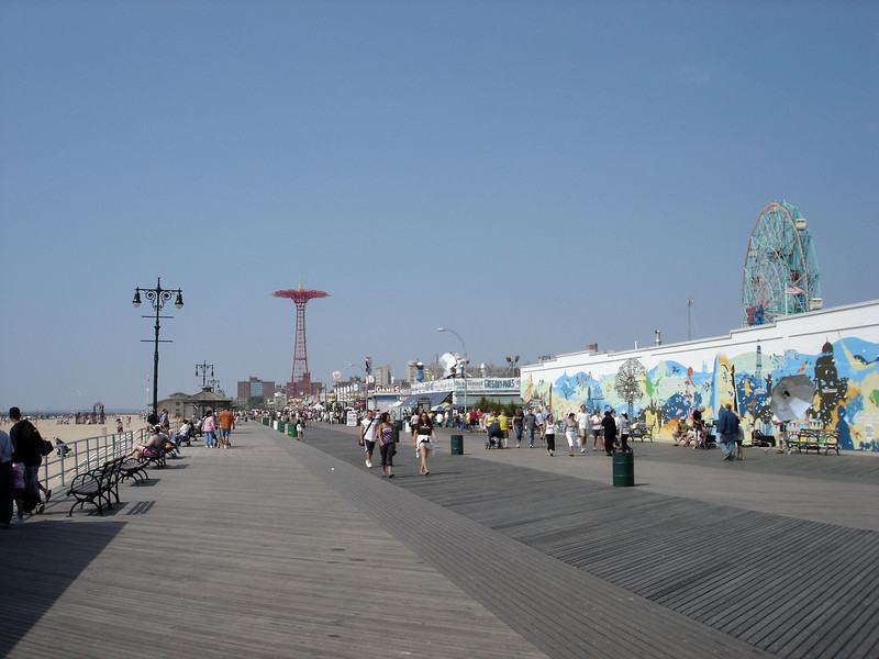 Looking down the boardwalk