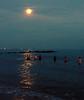 5-4-12 - the true final swim of the Coney Island Polar Bear club season - full moon swim