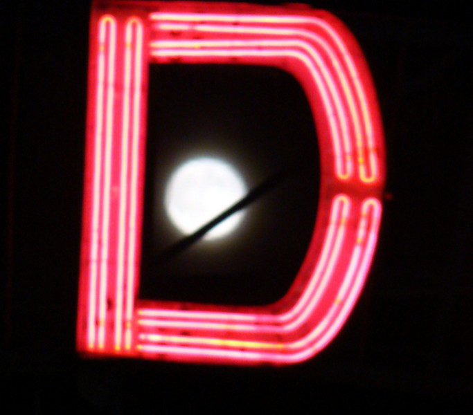 "The full moon on Friday night through the 'D' of ""Wonder"""