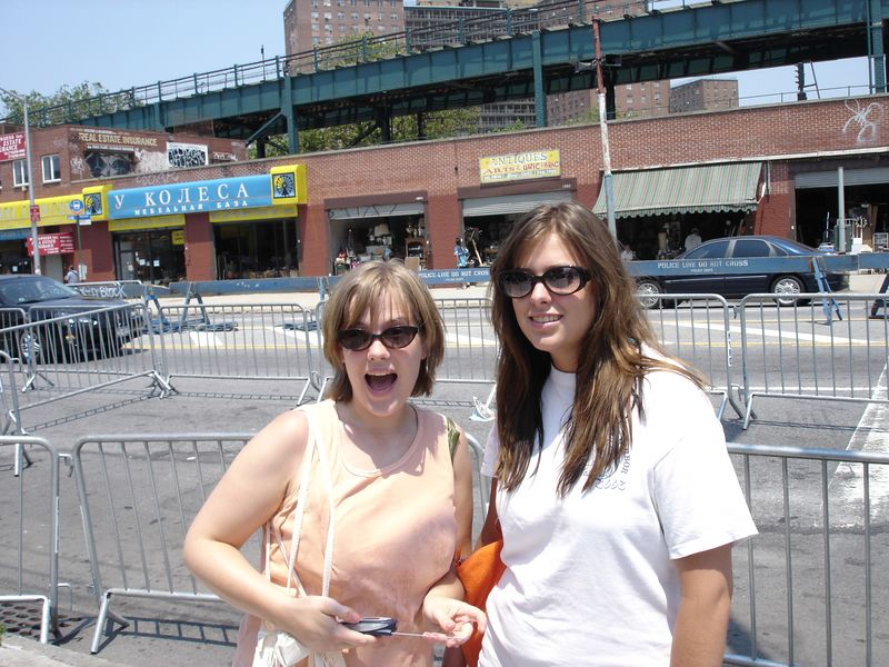 Amanda and Ginger upon their arrival at Coney before the crowds arrived.  It was there first time at the Mermaid Parade and Ginger's first time at Coney.