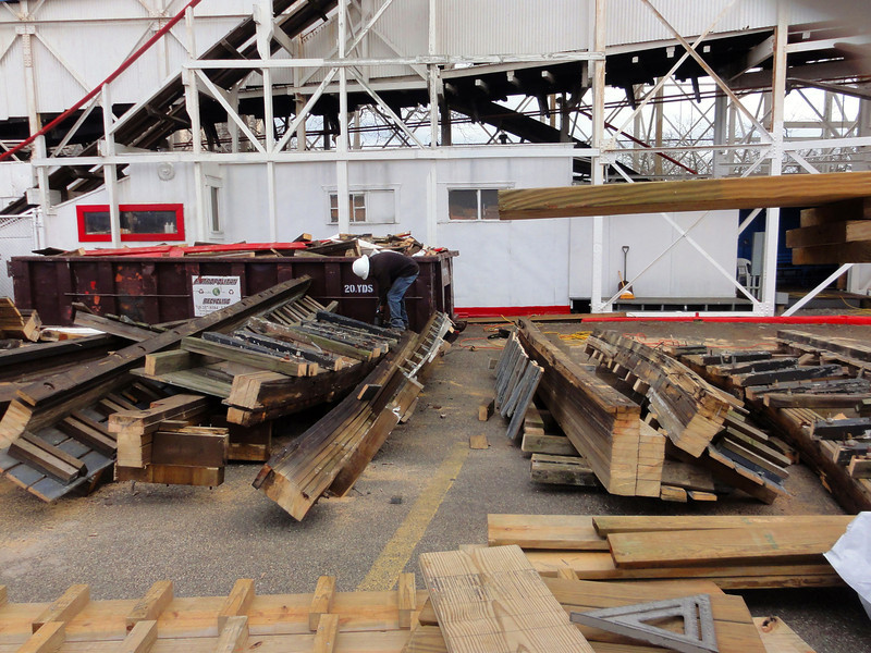 1-8-12 - the beginning of major rehab on the Cyclone