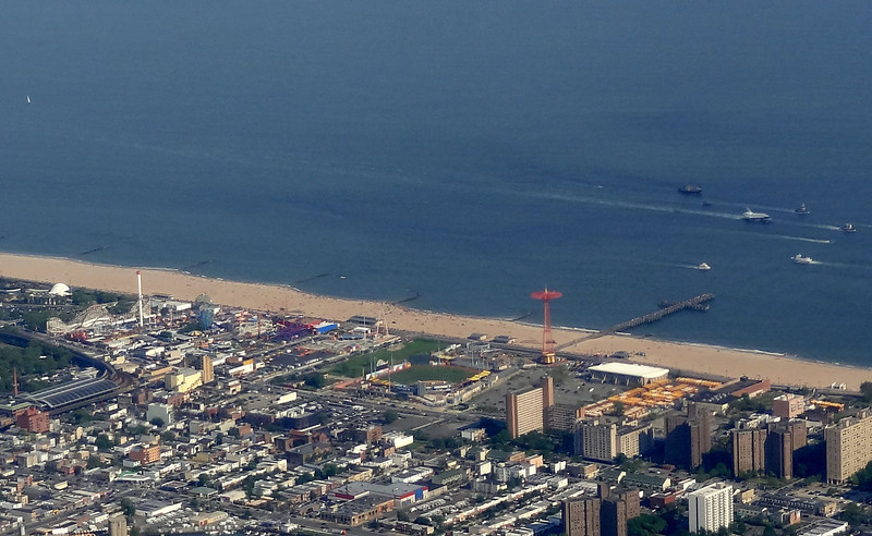 6/3/12 - Coney Island from the - and believe it or not that is the Space Shuttle Enterprise being towed in the water to New Jersey before it's final home at the USS Intrepid.