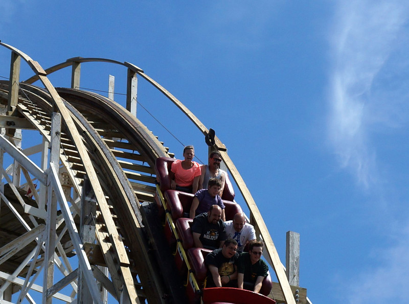 7-21-12 - why not to wear your hat on the Cyclone