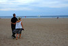 7-14-12 - Billy Bragg and Nora Guthrie walk to the beach