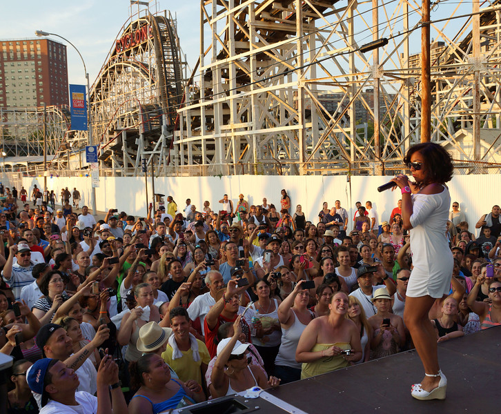6-30-12 - Lisette Melendez performs at the Cyclone's 85th birthday party