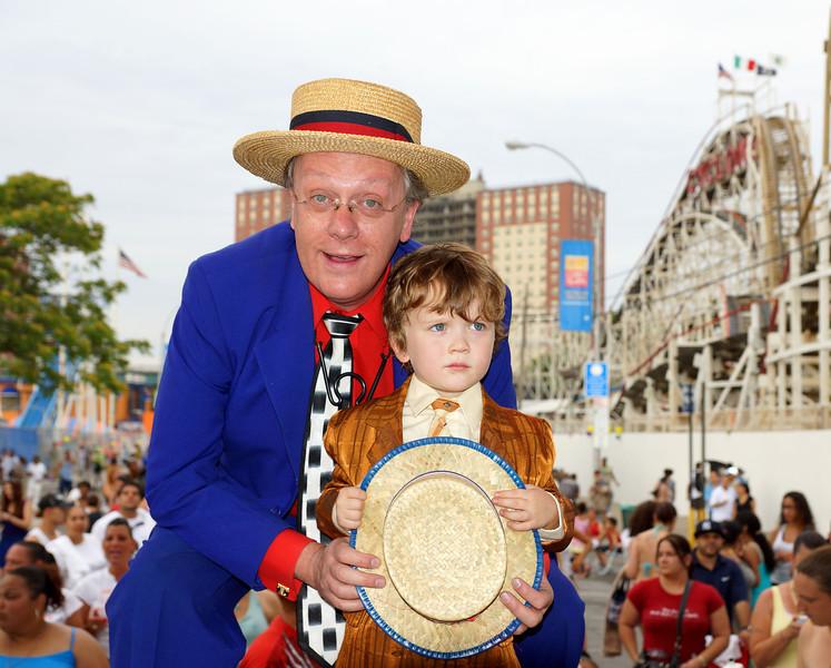 6-30-12 - Todd Robbins and son Finn at the Cyclone's 50th