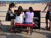 Piano on boardwalk