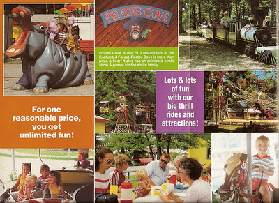 The other side of the Enchanted forest brochure.